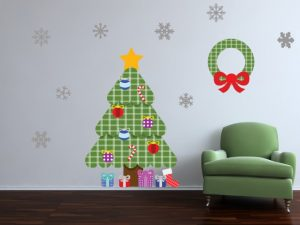 Xmas tree wall decal sticker
