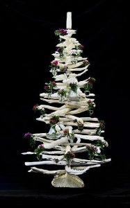 Modern driftwood alternative Christmas tree
