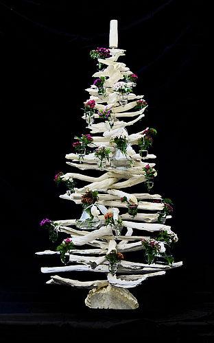 Modern driftwood alternative Christmas tree