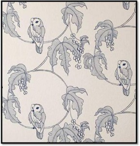 Contemporary owl design wallpaper
