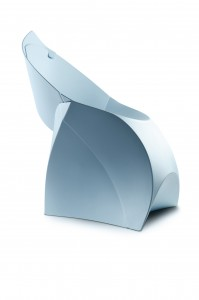 Flatpack blue Flux chair