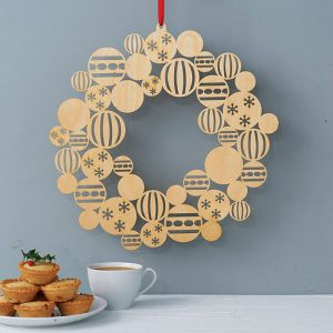Modern and contemporary Christmas xmas wreath