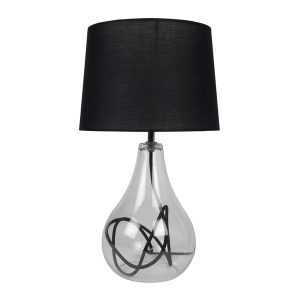 Contemporary glass table lamp light