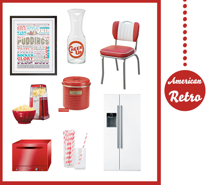 Get the look: Red American retro diner | Fresh Design Blog