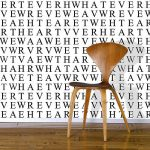 Wordsearch wallpaper from Identity Papers