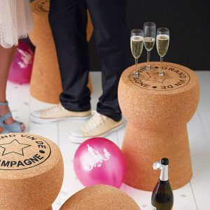 Champagne cork handmade table