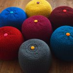 Chunky knitted pouffes on sale at Bouf