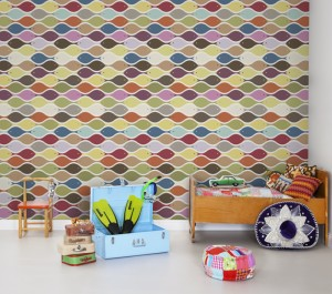 Colourful geometric wallpaper