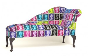 Postage stamp design chaise longue