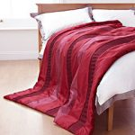 TU red quilted throw from Sainsbury's