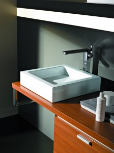 Contemporary bathroom basin sink