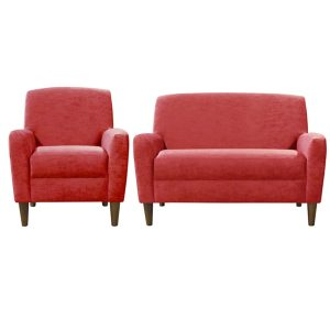 Plain red contemporary modern sofa furniture