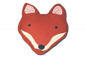 Contemporary fox head cushion