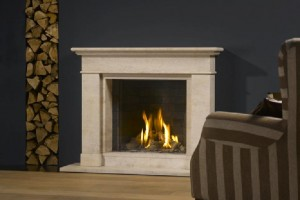 Gas fire for a contemporary home
