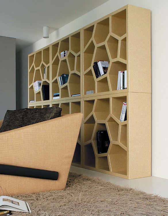Honeycomb shelves shape : Honeycomb bookcase