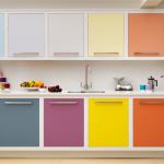 Harvey Jones multi coloured linear kitchen