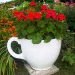 Giant tea cup garden planter by Holly Palmer