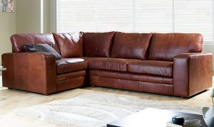 Modern leather corner sofa