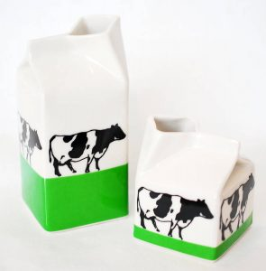 Contemporary handmade ceramic milk jug