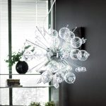 Glass bubble pendant light