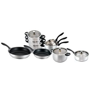 Stainless steel contemporary cookware
