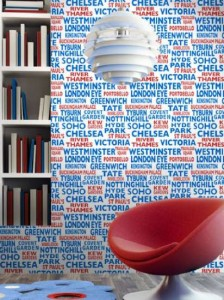 Contemporary graphic London wallpaper