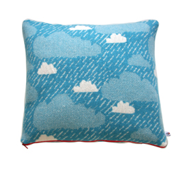 Contemporary designer knitted cushion