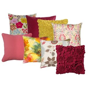 Uplifting contemporary cushions and soft furnishings