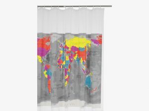 Alternative bathroom shower curtain screen ideas