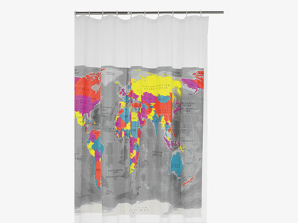 Fresh Design bathroom: Habitat Mappa shower curtain