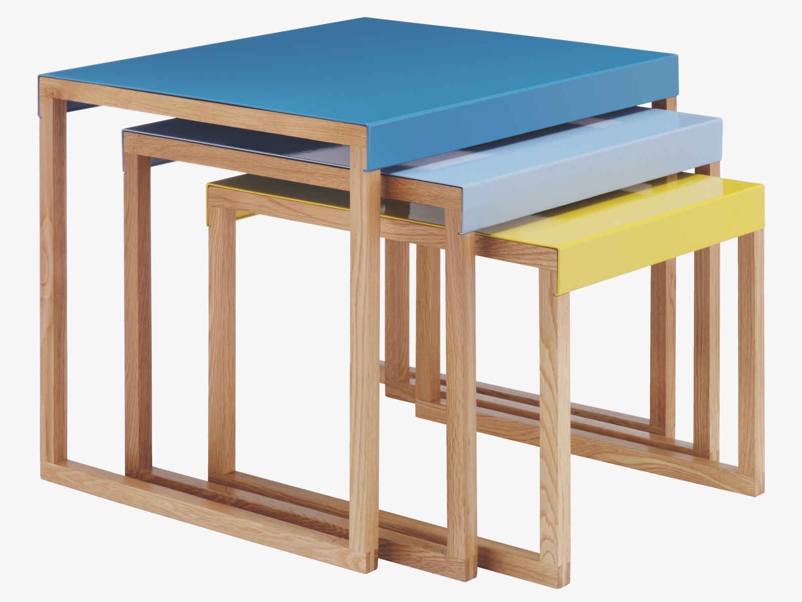 Contemporary kilo nest of tables from habitat fresh for Table habitat
