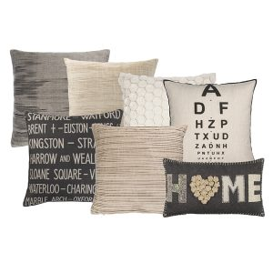 Black white and natural cushions