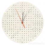 Fresh Design bargain: Word search clock
