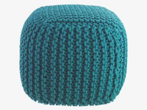 Contemporary home design pouf seat