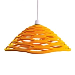 Honey beehive yellow felt lamp shade