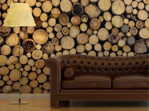 How to create a stacked wood log feature
