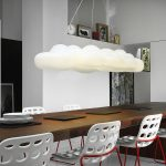 Nefos contemporary hanging cloud chandelier