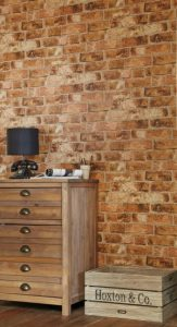 Affordable textured wallpaper brick wall