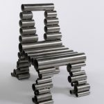 Contemporary tube chair by Osian Batyka-Williams