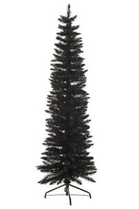 Contemporary slim black Christmas tree