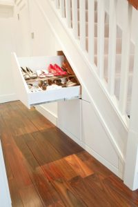 Clever storage built into stairs