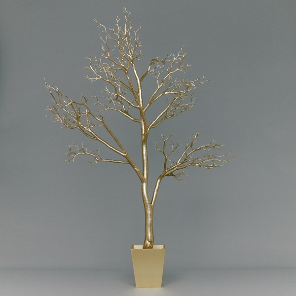 gold-glitter-contemporary-minimalist-christmas-tree - Did you buy a Christmas tree already? - Question and Answer