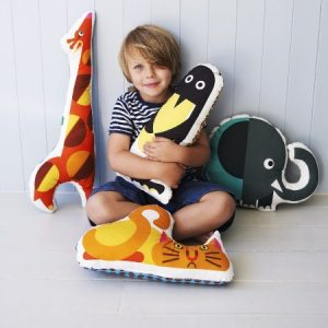 Funky animal cushions children's decor