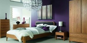Contemporary bedroom furniture and bedside table