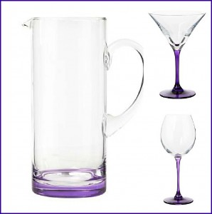 Designer purple glassware by Ben de Lisi