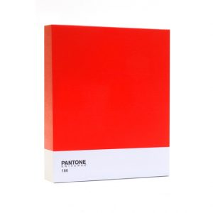 Red Pantone 136 contemporary canvas wall art