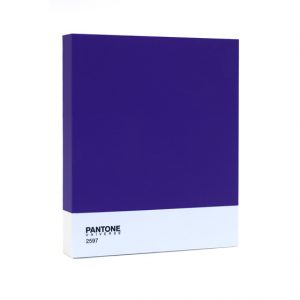 Pantone purple wall art