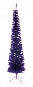 Slim alternative different purple Christmas xmas tree