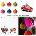 Colourful contemporary Christmas tree decorations