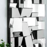 Contemporary blocks wall art mirror